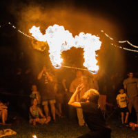 Fire act at Rooster Walk 2018 - photo © Gina Elliott Proulx