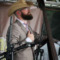 Jasper Lorentzen with Po' Ramblin' Boys at the 2018 Remington Ryde Bluegrass Festival - photo by Frank Baker