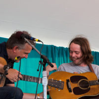 Bryan Sutton and Billy Strings at Grey Fox 2018 - photo © Tara Linhardt