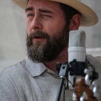 Max Heineman with the Lonesome Ace String Band at the 2018 Bluegrass On The Grass festival - photo by Frank Baker