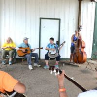 Jamming underway early in the week at the Marshall Bluegrass Festival - photo © Bill Warren