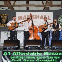 Larry Efaw & The Bluegrass Mountaineers at the Marshall Bluegrass Festival - photo © Bill Warren
