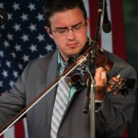 Nathan Aldridge with IIIrd Tyme Out at the 2018Remington Ryde Bluegrass Festival - photo by Frank Baker