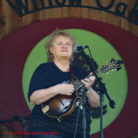 Lorraine Jordan with Carolina Road at the 2018 Willow Oak Bluegrass Festival - photo © Beckie Howard