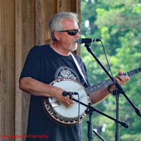 Ben Greene with Carolina Road at the 2018 Willow Oak Bluegrass Festival - photo © Beckie Howard