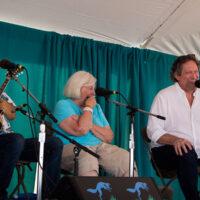 Jerry Douglas cracks 'em up at the John Duffey Tribute at Grey Fox 2018 - photo © Tara Linhardt