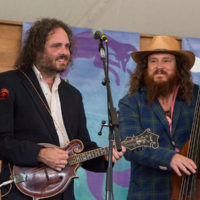 Mark Schimick and Charles Humphrey with Songs From The Road Band at Grey Fox 2018 - photo © Tara Linhardt