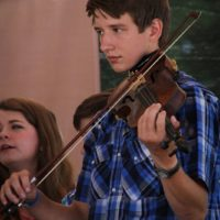 Youth bluegrass participants at the 2018Remington Ryde Bluegrass Festival - photo by Frank Baker