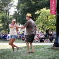 Dancing it up at the 2018 Bluegrass On The Grass festival - photo by Frank Baker