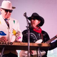 Waldo Otto and Slade with Red Knuckles & The Trailblazers at Grey Fox 2018 - photo © Tara Linhardt