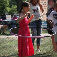 Hooping it up at the 2018 Bluegrass On The Grass festival - photo by Frank Baker