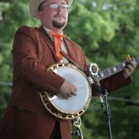 Jereme Brown with Po' Ramblin' Boys at the 2018 Remington Ryde Bluegrass Festival - photo by Frank Baker