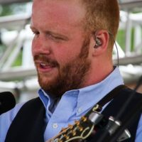 Jesse Smathers with Lonesome River Band at the 2018Remington Ryde Bluegrass Festival - photo by Frank Baker