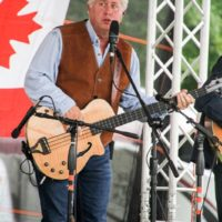 Daryl Mosley with The Farm Hands at the 2018 Remington Ryde Bluegrass Festival - photo by Frank Baker