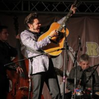 Christopher Malpass at the 2018Remington Ryde Bluegrass Festival - photo by Frank Baker