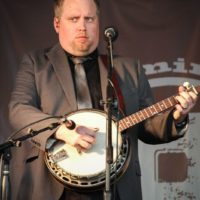 Keith McKinnon with IIIrd Tyme Out at the 2018Remington Ryde Bluegrass Festival - photo by Frank Baker