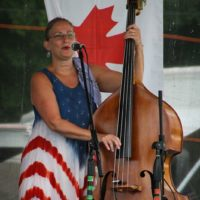 Jillian Lucas with Coal County Express at the 2018Remington Ryde Bluegrass Festival - photo by Frank Baker