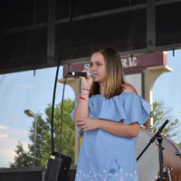 Mikaya Taylor sings at the Military Freedom Festival in Nicolasville, KY (June 9, 2018)