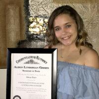 Mikaya Taylor with her Commonwealth Ambassador Award