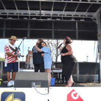 Douglas Day, Traci Taylor, Mikaya Taylor, Missi Hurley Edwards at the Military Freedom Festival in Nicolasville, KY (June 9, 2018)