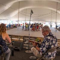 Square dance tent at Grey Fox 2018 - photo © Tara Linhardt