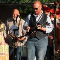 Sammy Shelor and Jesse Smathers with Lonesome River Band at the 2018Remington Ryde Bluegrass Festival - photo by Frank Baker