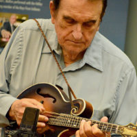 Bobby performs at the 2018 Bobby Osborne Mandolin Roundup - photo by Terry Vaught