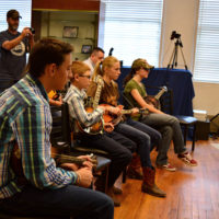 Students in rapt attention at the 2018 Bobby Osborne Mandolin Roundup - photo by Terry Vaught