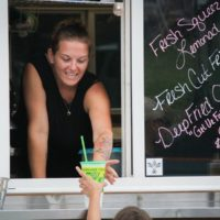 Always time for lemonade at the August 2018 Gettysburg Bluegrass Festival - photo by Frank Baker