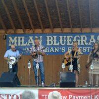 Detour reunion at the 2018 Milan Bluegrass Festival - photo © Bill Warren