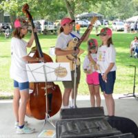 The Woodshed Pickers at the 2018 Blissfield Bluegrass on the River - photo © Bill Warren