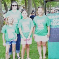Mansfield Girl Scouts handle the face painting at the 2018 Blissfield Bluegrass on the River - photo © Bill Warren