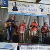 Red. White, and Bluegrass at the 2018 Blissfield Bluegrass on the River - photo © Bill Warren