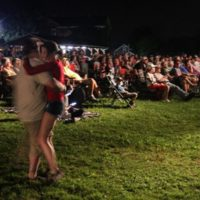 Waltzing in the moonlight at the August 2018 Gettysburg Bluegrass Festival - photo by Frank Baker