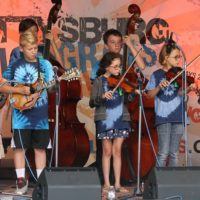 Kid's Academy at the August 2018 Gettysburg Bluegrass Festival - photo by Frank Baker