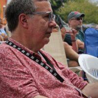 David Morris enjoying the show at the August 2018 Gettysburg Bluegrass Festival - photo by Frank Baker