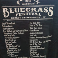 Lineup on a T-shirt at the 2018 Podunk Bluegrass Festival - photo by Dale Cahill