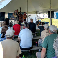 Bend in the River kicks off the festival on the Showcase stage at the 2018 Podunk Bluegrass Festival - photo by Dale Cahill