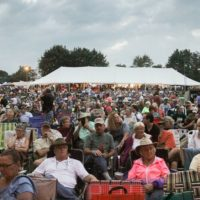 Big crowd at the August 2018 Gettysburg Bluegrass Festival - photo by Frank Baker