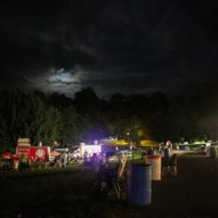 Night sky at the August 2018 Gettysburg Bluegrass Festival - photo by Frank Baker