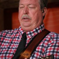 Russel Moore with IIIrd Tyme Out at the August 2018 Gettysburg Bluegrass Festival - photo by Frank Baker