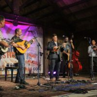 The Travelin' McCourys at the August 2018 Gettysburg Bluegrass Festival - photo by Frank Baker