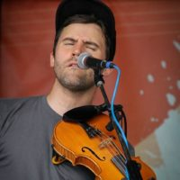 Patrick M'Gonigle with The Lonely Heartstring Band at the 2018Gettysburg Bluegrass Festival - photo by Frank Baker