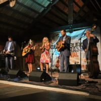 Rhonda Vincent & The Rage at the August 2018 Gettysburg Bluegrass Festival - photo by Frank Baker
