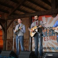 The Mosley Brothers at the August 2018 Gettysburg Bluegrass Festival - photo by Frank Baker