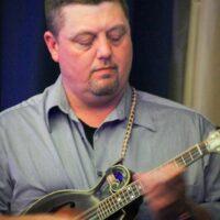 DeWayne Duffey with Kim Robins & 40 Years Late at World of Bluegrass (9/25/18) - photo © Frank Baker