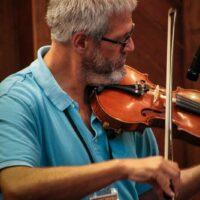 George Mason with Amanda Cook at World of Bluegrass (9/25/18) - photo © Frank Baker