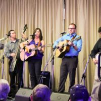 Kim Robins & 40 Years Late at World of Bluegrass (9/25/18) - photo © Frank Baker