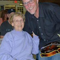 Adam Steffey with Highland Travelers and his friend, Betty White, at the Kentuckians of Michigan (9/15/18) - photo © Bill Warren