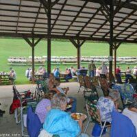 Dinner and a show at the 2018 Nothin' Fancy Bluegrass Festival - photo © Bill Warren